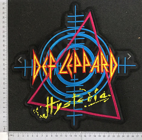 DEF LEPPARD - HYSTERIA EMBROIDERED BACK PATCH