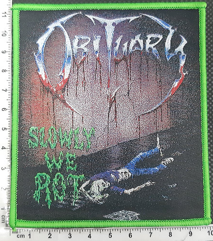 OBITUARY - SLOWLY WE ROT WOVEN PATCH