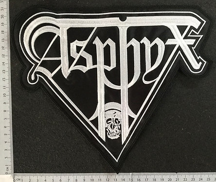 ASPHYX - WHITE LOGO EMBROIDERED BACK PATCH