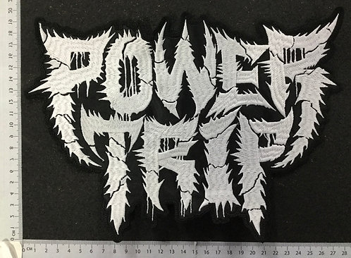 POWER TRIP - LOGO EMBROIDERED BACK PATCH