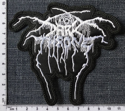 DARK THRONE - LOGO SHAPED EMBROIDERED PATCH