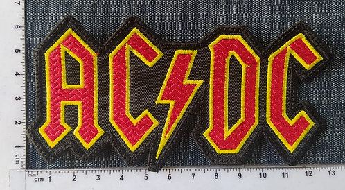 AC/DC - SHAPED LOGO EMBROIDERED PATCH