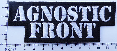 AGNOSTIC FRONT - LOGO EMBROIDERED PATCH