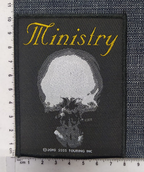 MINISTRY - MIND IS A TERRIBLE THING TO TASTE WOVEN PATCH
