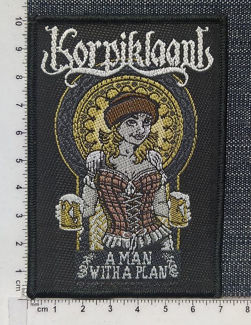 KORPIKLAANI - A MAN WITH A PLAN LOGO WOVEN PATH