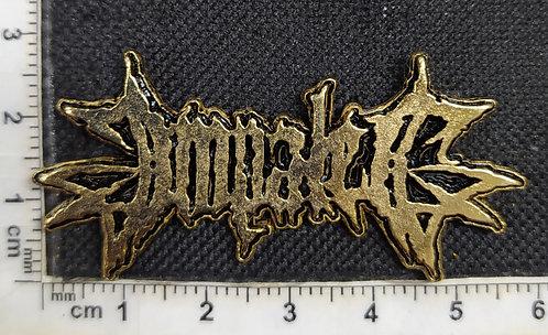 IMPALED - GOLD LOGO METAL PIN