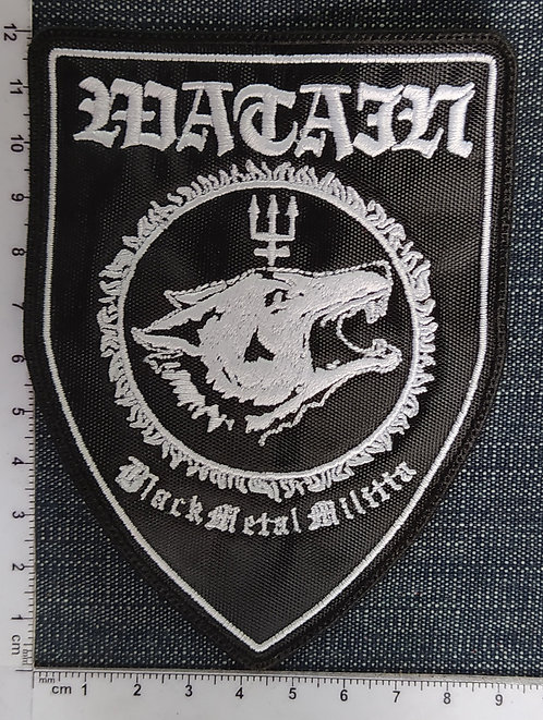WATAIN - BLACK METAL MILITIA SHIELD EMBROIDERED PATCH