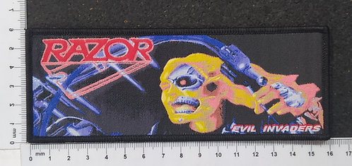 RAZOR - EVIL INVADERS WOVEN PATCH