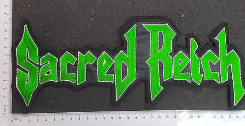 SACRED REICH - LOGO EMBROIDERED BACKPATCH