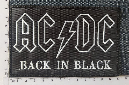 AC/DC - BACK IN BLACK EMBROIDERED PATCH