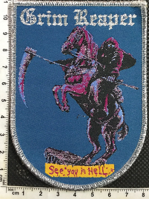 GRIM REAPER - SEE YOU IN HELL WOVEN PATCH