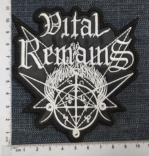 VITAL REMAINS - SHAPE LOGO EMBROIDERED PATCH