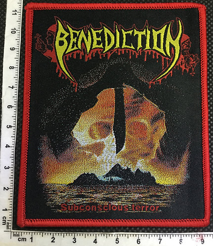 BENEDICTION - SUBCONCLOUS TERROR WOVEN PATCH