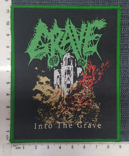 GRAVE - INTO THE GRAVE WOVEN PATCH
