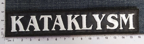KATAKLYSM - LOGO STRIP 2 LARGE EMBROIDERED PATCH