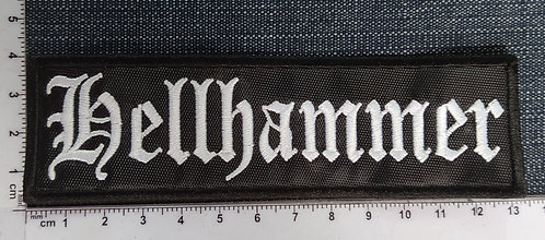 HELLHAMMER - LOGO EMBROIDERED PATCH