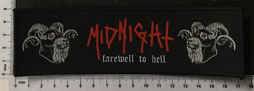 MIDNIGHT - FAREWELL TO HELL WOVEN PATCH