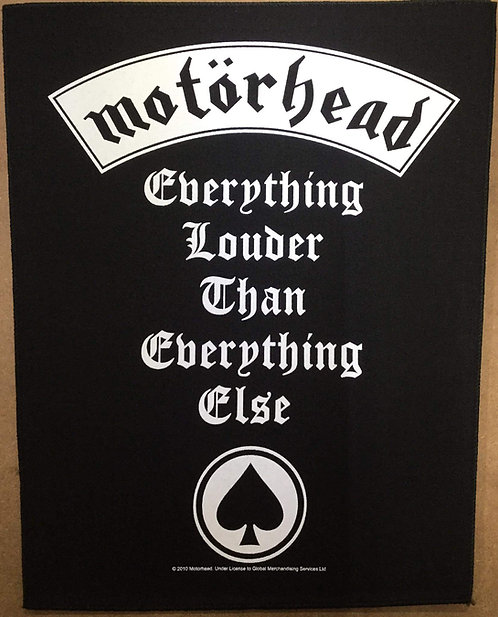 MOTORHEAD - Everything Louder Than Everyng else Back Patch