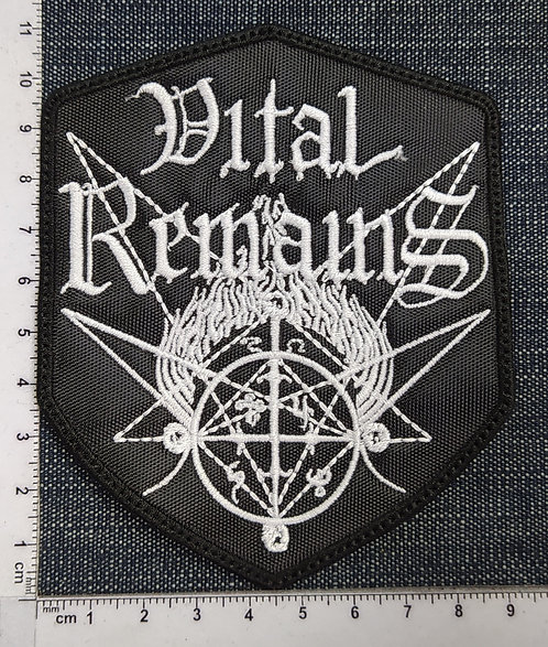 VITAL REMAINS - SHIELD LOGO EMBROIDERED PATCH