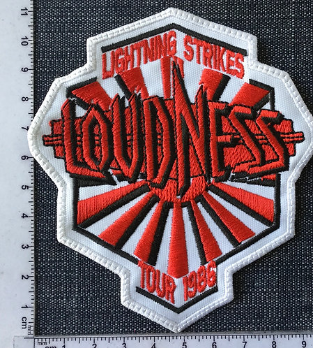 LOUDNESS - TOUR 1986 EMBROIDERED PATCH