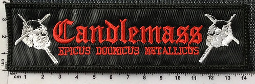CANDLEMASS - EPICUS.. EMBROIDERED PATCH