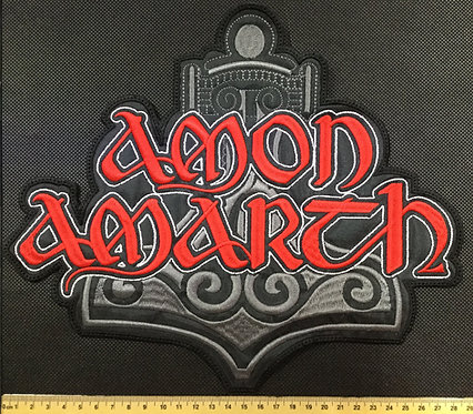 AMON AMARTH - THOR'S HAMMER LOGO EMBROIDERED BACK PATCH