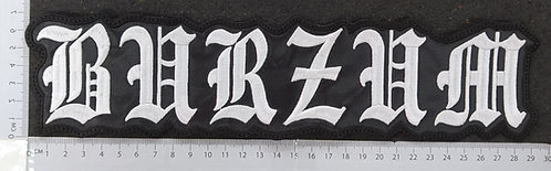 BURZUM - SHAPED EMBROIDERED BACK PATCH