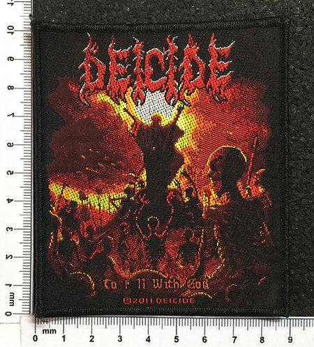 DEICIDE - TO HELL WITH GOD WOVEN PATCH
