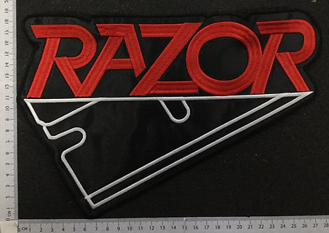 RAZOR - LOGO EMBROIDERED BACK PATCH