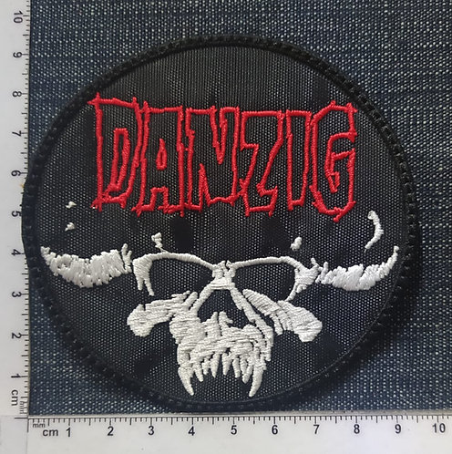 DANZIG - CIRCLE SKULL LOGO EMBROIDERED PATCH