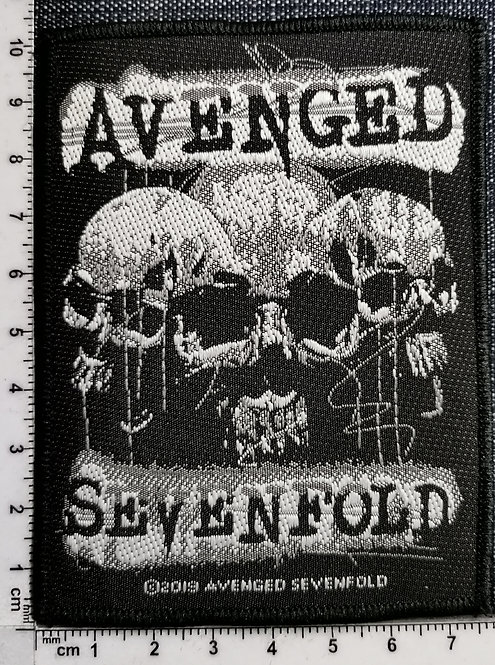 AVENGED SEVENFOLD - Three Skulls Woven Patch