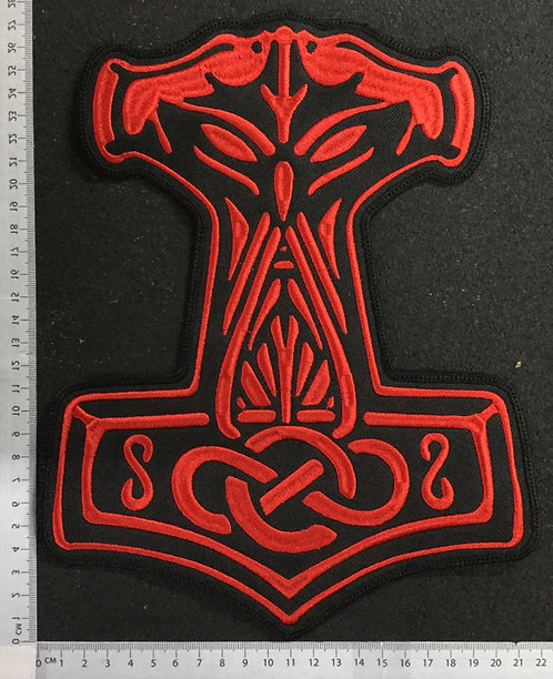 THORS HAMMER - EMBROIDERED BACK PATCH