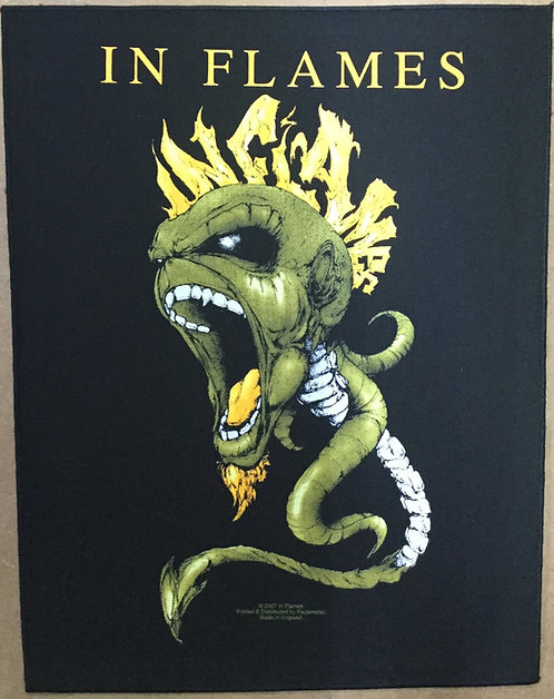 IN FLAMES - punk Back Patch