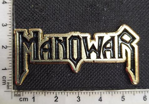 MANOWAR - GOLD LOGO Metal Pin