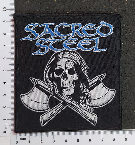 SACRED STEEL - AXES WOVEN PATCH