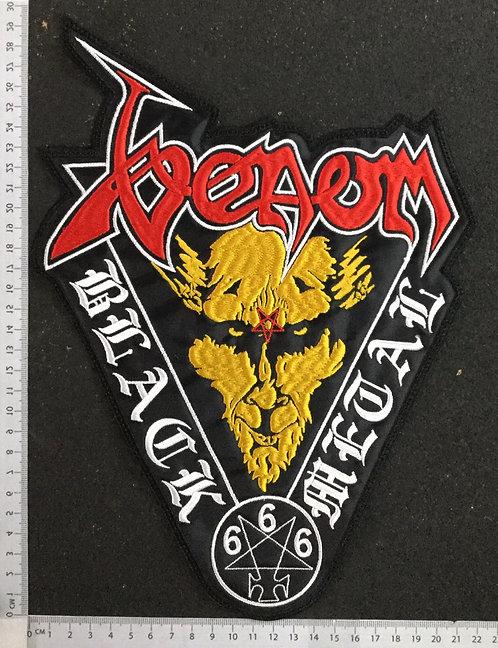 VENOM - BLACK METAL 666 EMBROIDERED BACK PATCH