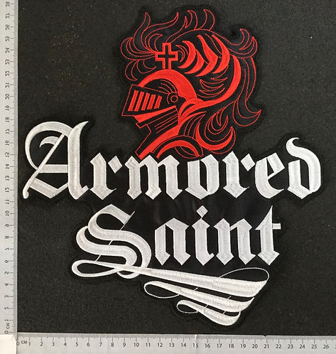 ARMORED SAINT - LOGO EMBROIDERED BACK PATCH