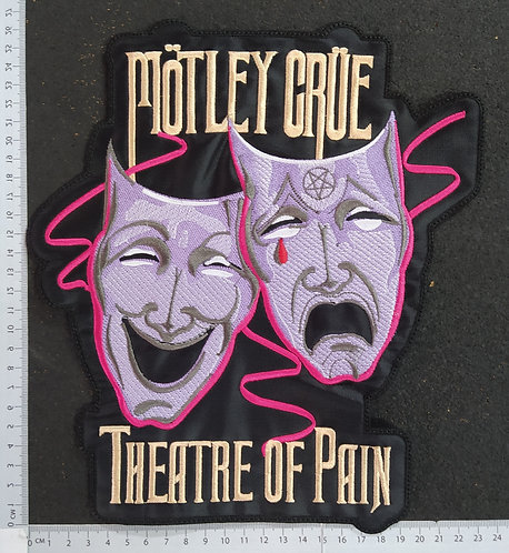 MÖTLEY CRÜE - THEATRE OF PAIN EMBROIDERED BACK PATCH
