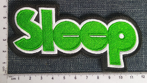 SLEEP - NORMAL LOGO EMBROIDERED PATCH