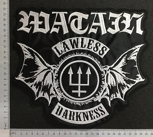 WATAIN - LAWLESS EMBROIDERED BACK PATCH