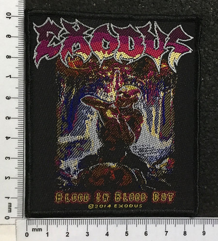 EXODUS - BLOOD IN BLOOD OUT WOVEN PATCH