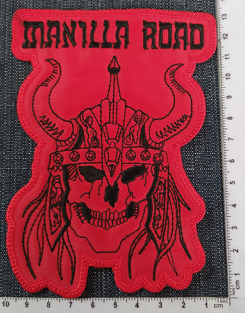 MANILLA ROAD - MEDIEVAL STEEL FACE EMBROIDERED PATCH