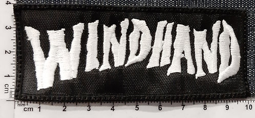 WINDHAND - WHITE LOGO Patch