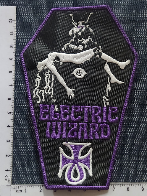 ELECTRIC WIZARD - WITCHCULT COFFIN LOGO EMBROIDERED PATCH