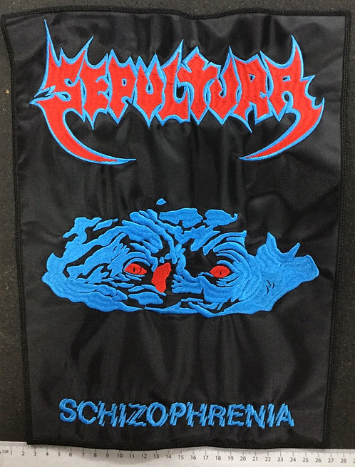 SEPULTURA - SCHZOPHRENIA EMBROIDERED BACK PATCH