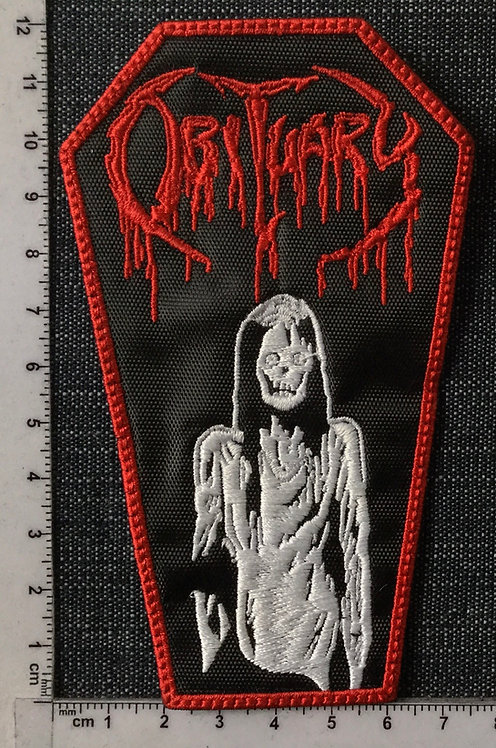OBITUARY - CADAVER COFFIN EMBROIDERED PATCH