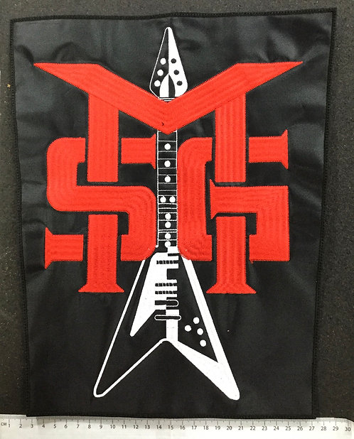MICHAEL SHENKER GROUP - GUITAR EMBROIDERED BACK PATCH