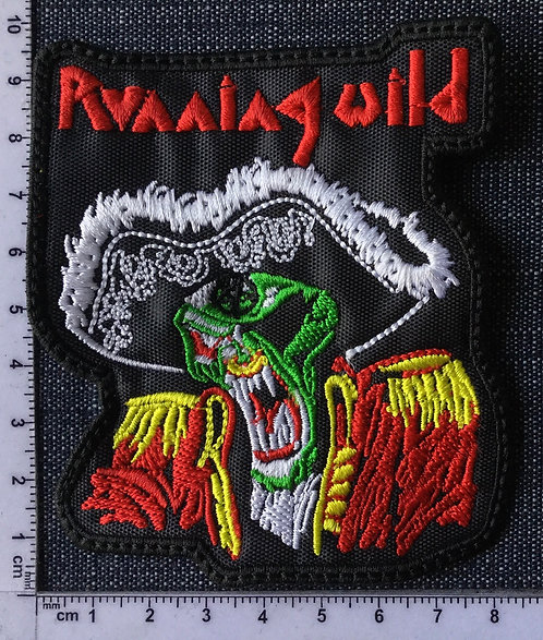 RUNNING WILD - PIRATE EMBROIDERED PATCH