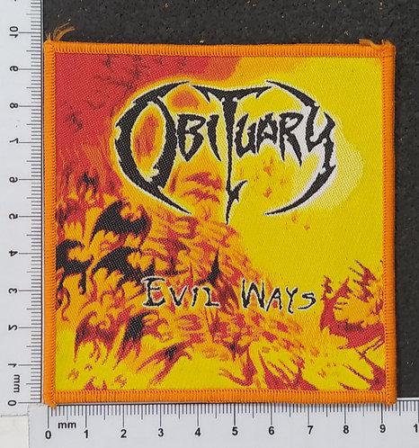 OBITUARY - EVIL WAYS WOVEN PATCH