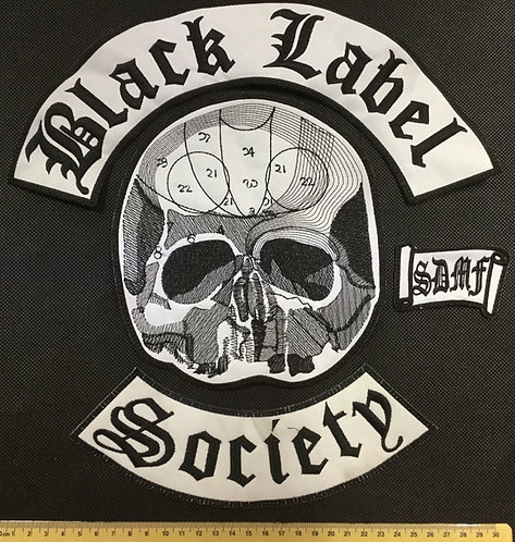 BLACK LABEL SOCIETY -BACK PATCH SET(4)